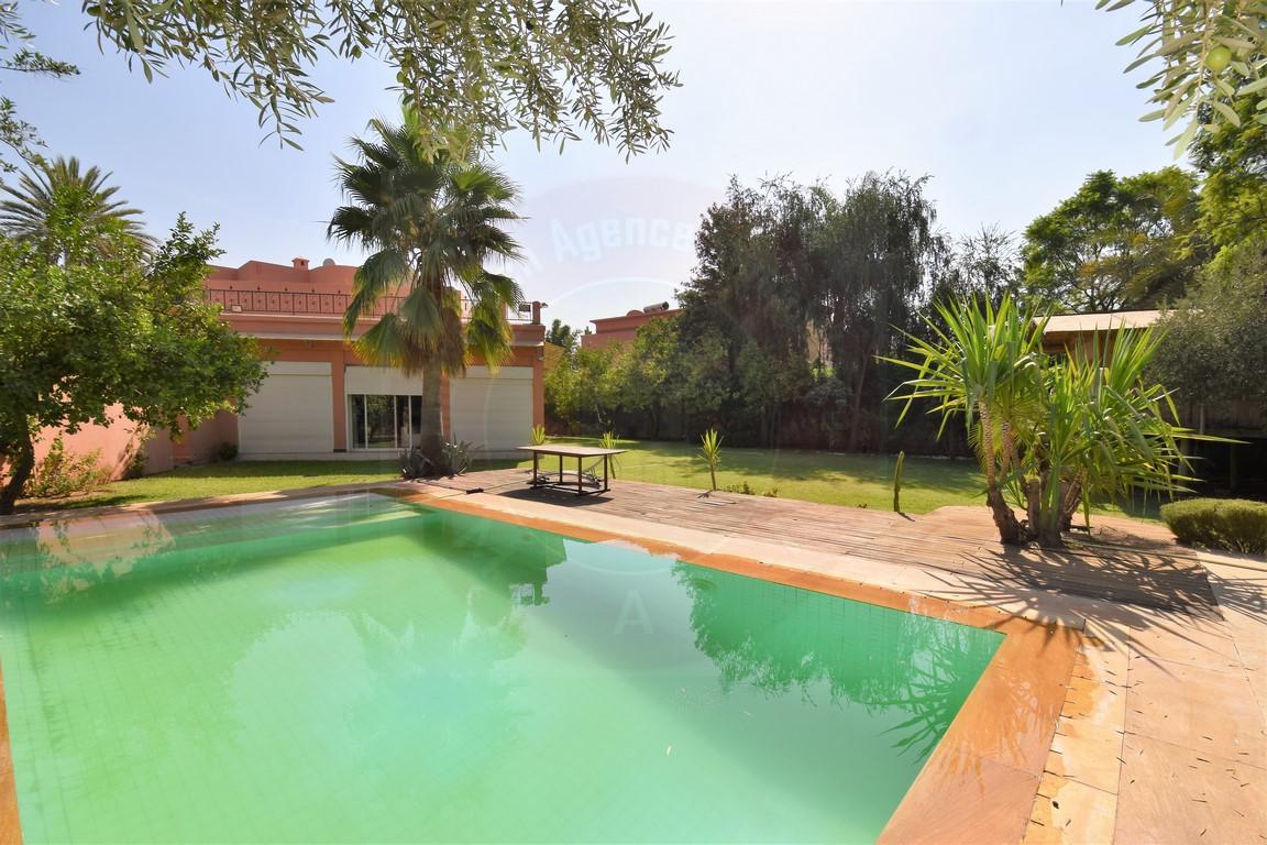Marrakech Agdal villa à vendre sur golf