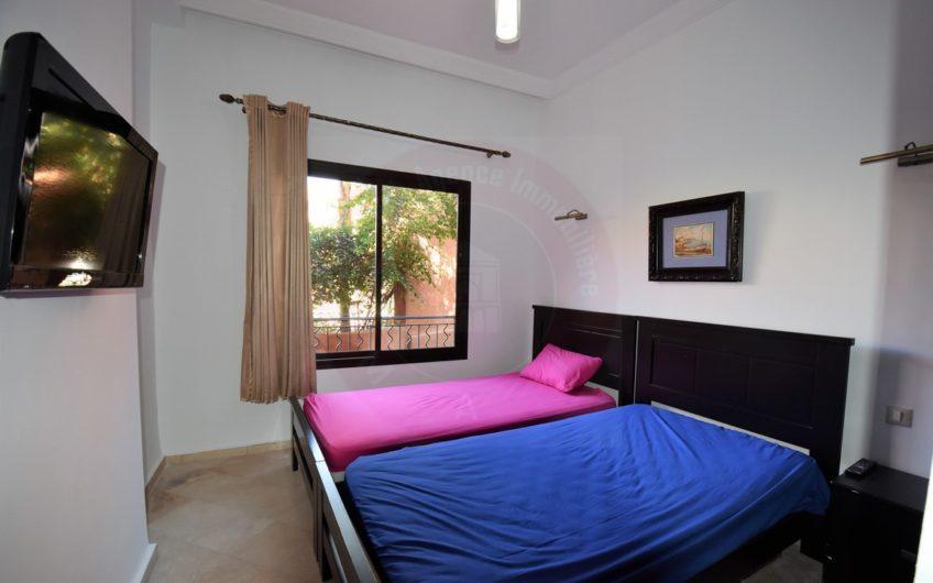 Marrakech Palmeraie magnifique appartement à louer jardin privatif