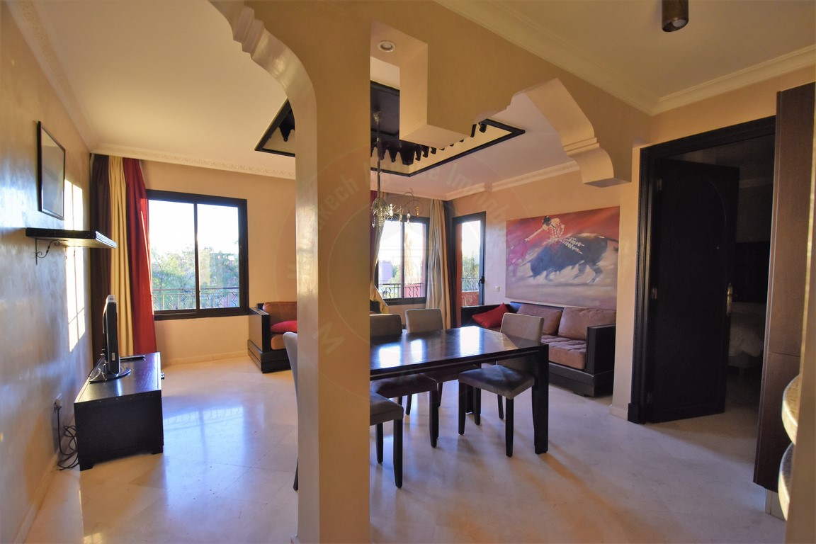 Marrakech palmeraie bel appartement terrasse à louer