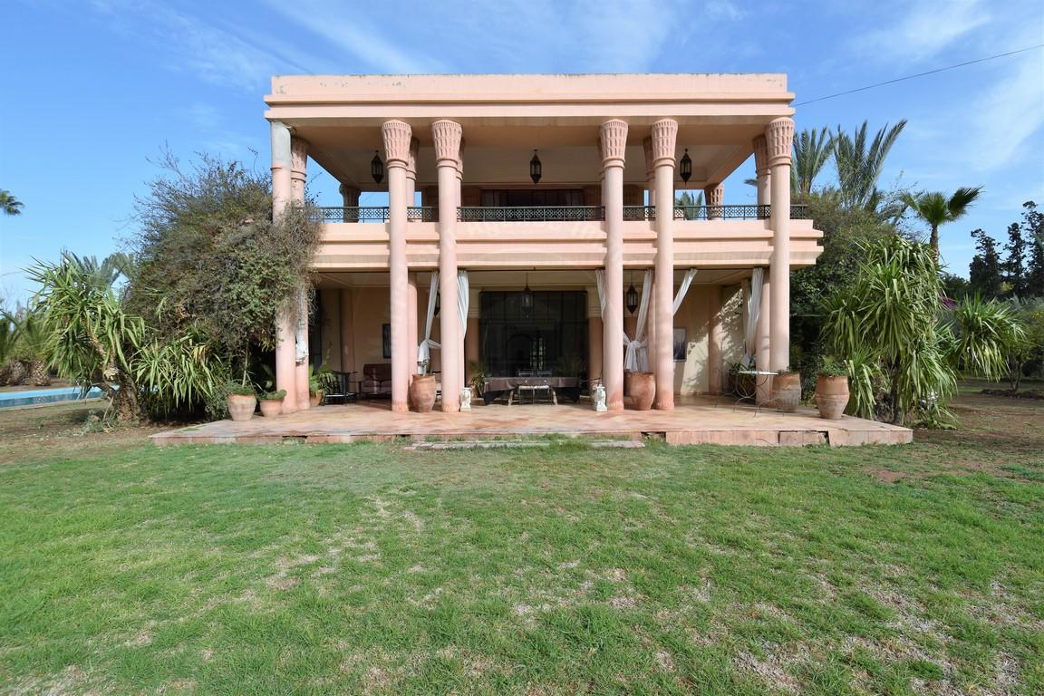 Marrakech Palmeraie vente villa prestige