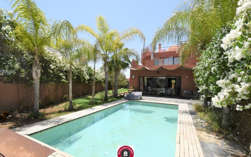 Marrakech Palmeraie villa piscine sans vis à vis